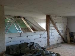 Trennwand aus Mauerwerk erstellen