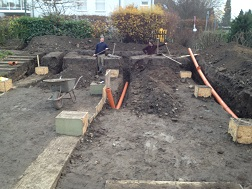Fundament-Betonarbeiten